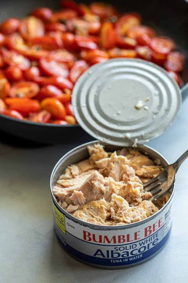 Tuna for weeknight puttanesca