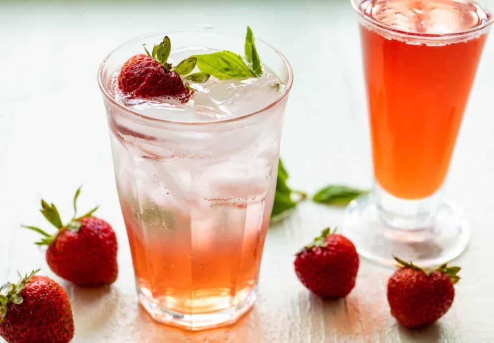 Strawberry Basil Gin Cocktail
