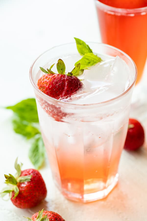 Strawberry Basil Gin Cocktails