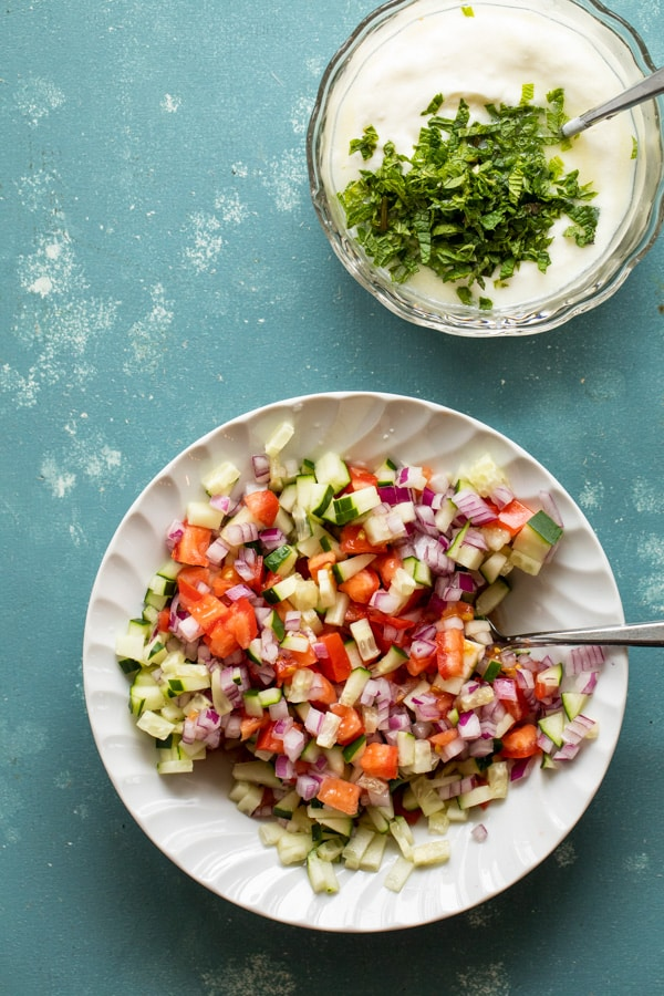 Fresh cucumber salsa for lamb tacos.