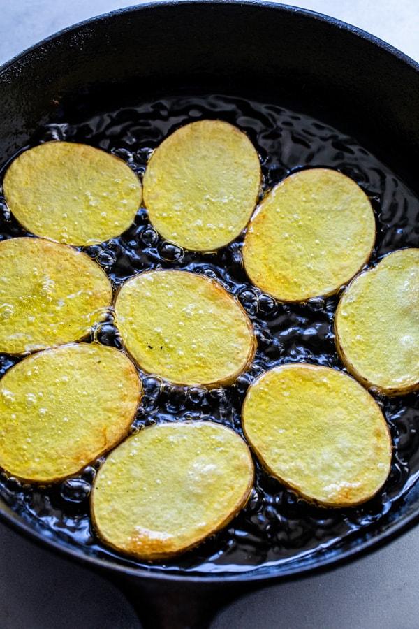 Cooking potatoes for potato bites