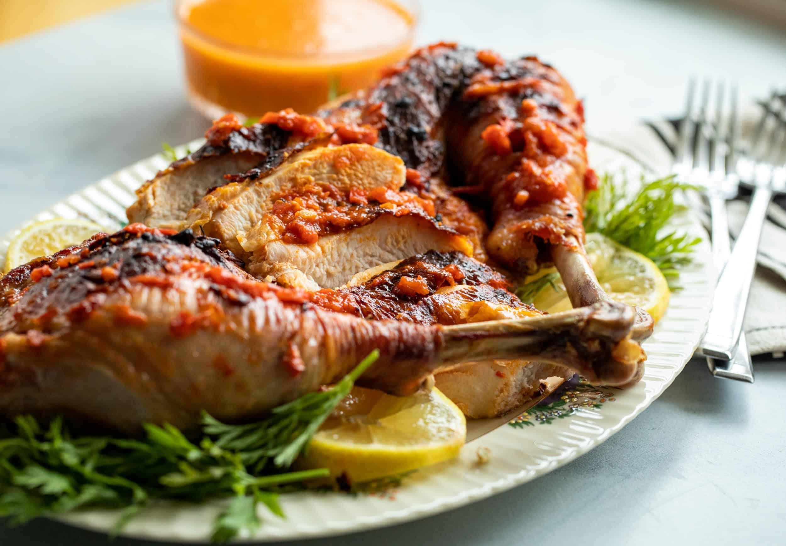 Harissa Spatchcock Turkey