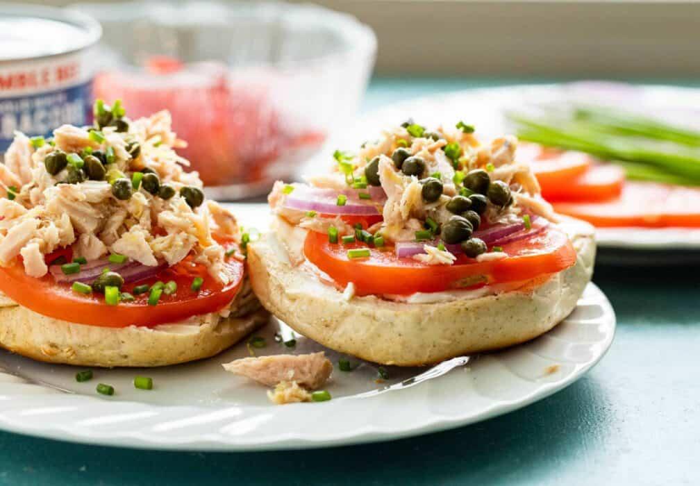 Tuna Breakfast Bagels