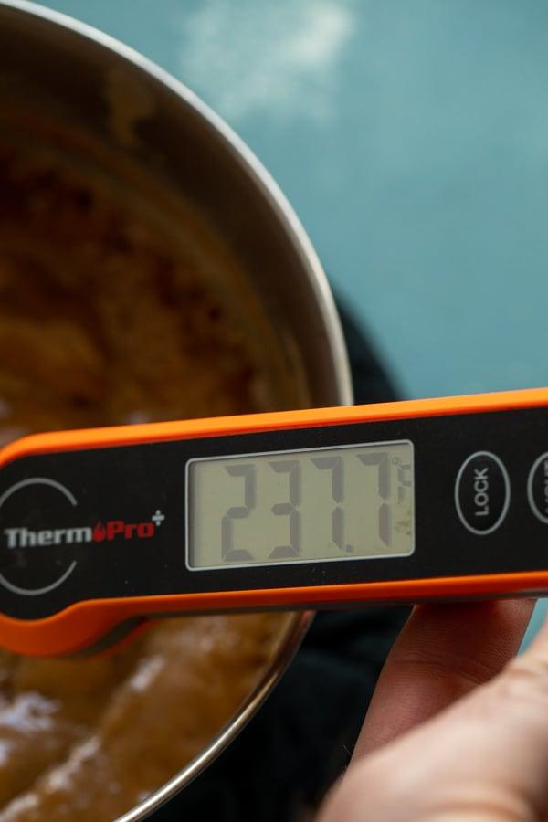 Right temperature for fudge.