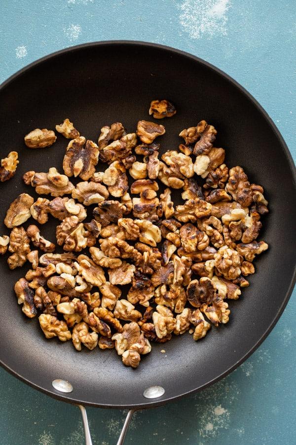 Toasting walnuts for fudge