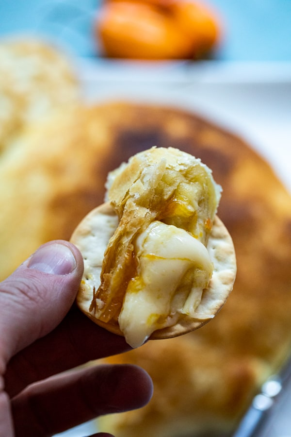 Baked Brie with Mango and Habanero Jelly