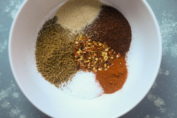 Spice rub for flank steak for fajitas.