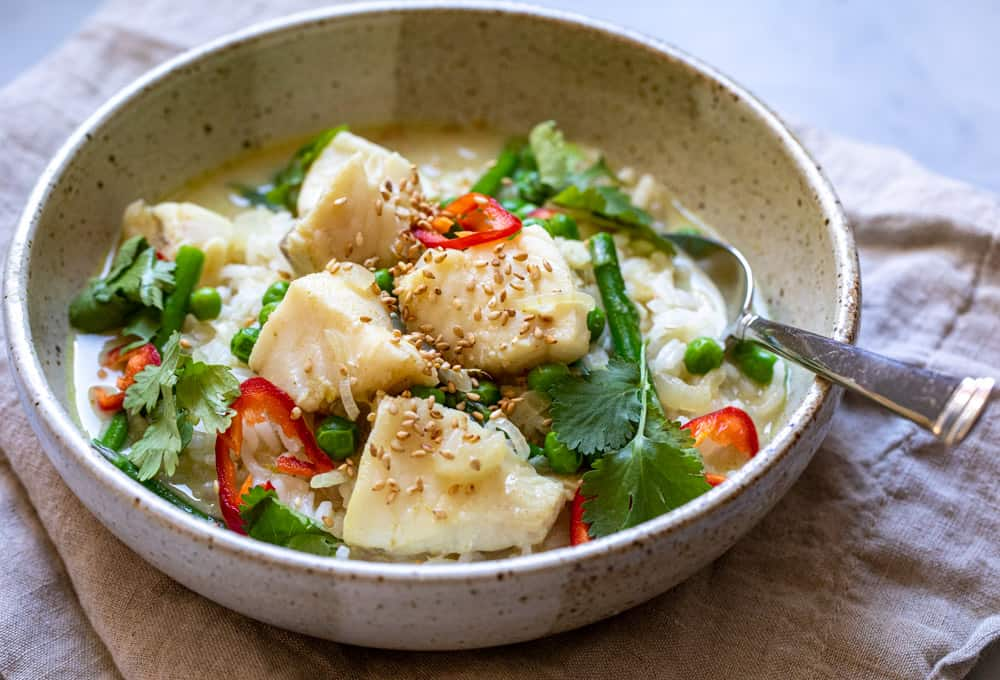 Easy Cod Curry Bowls