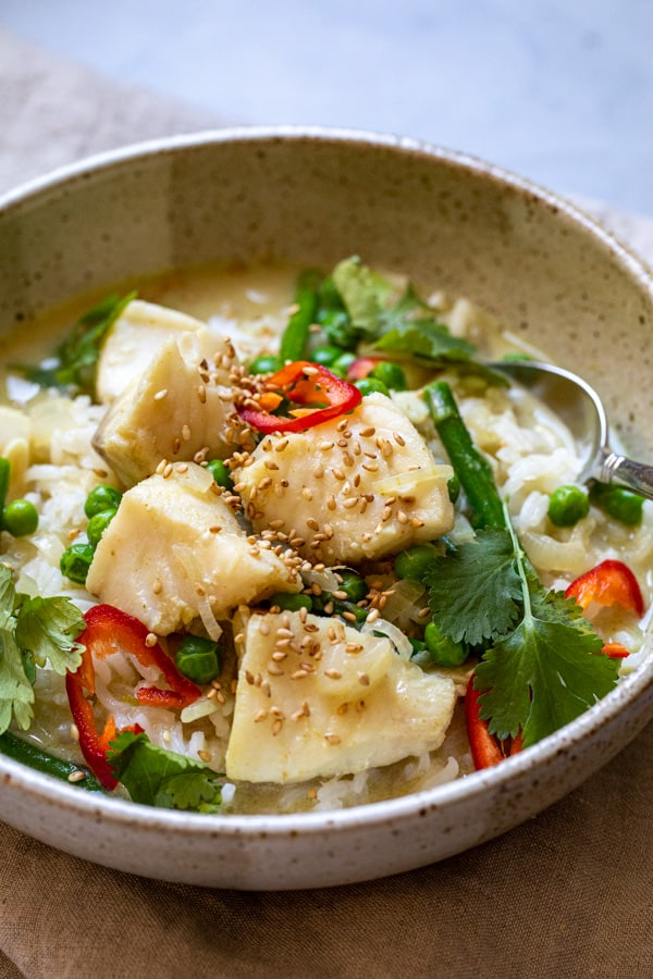 Cod Curry Bowls