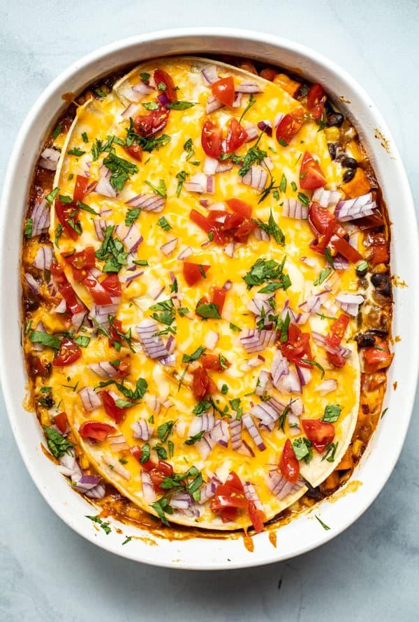 Baked Vegetarian Enchilada Casserole