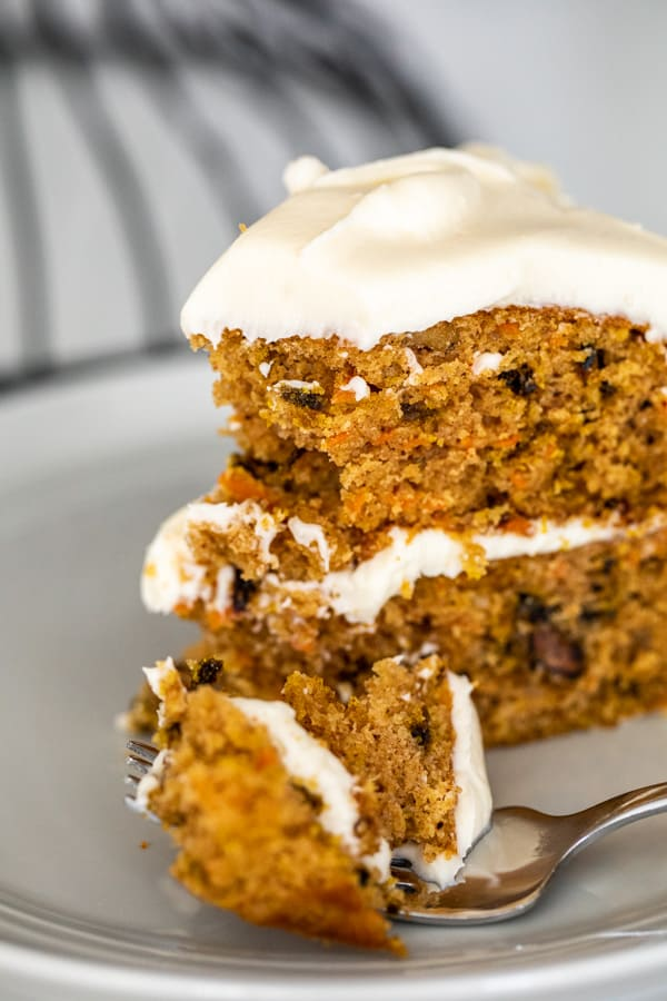 Carrot and Beet Cake with Cream Cheese Frosting Bite