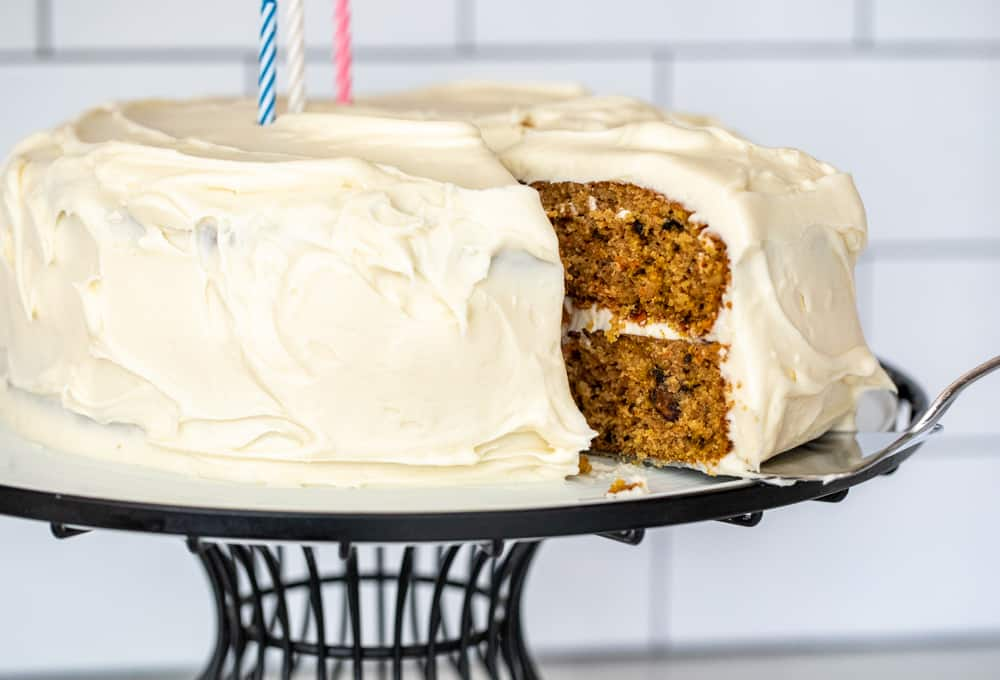 Carrot and Beet Cake with Cream Cheese Frosting