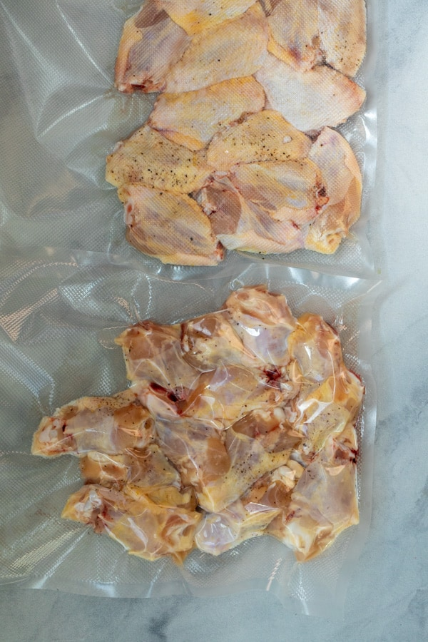 Vacuum Sealed Chicken Wings ready to Cook