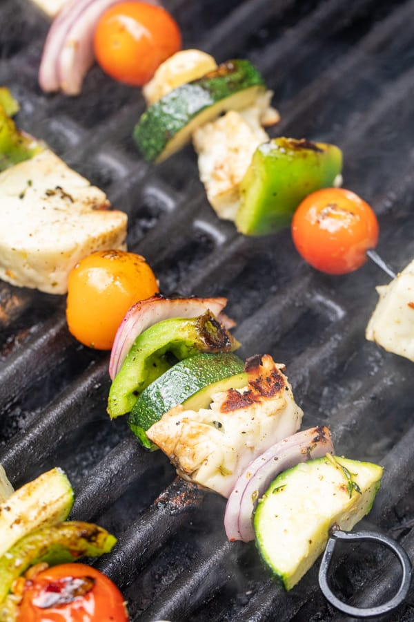 Halloumi Skewers on the Grill