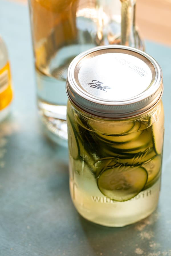 Starting infused vodka with cucumber