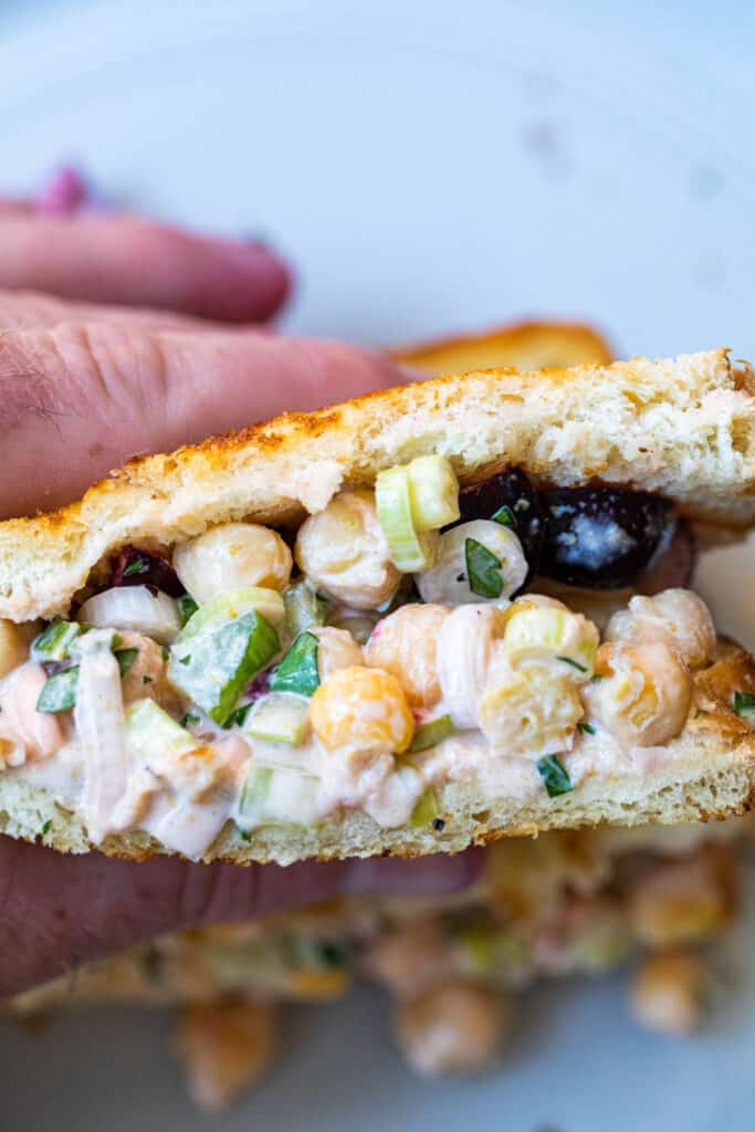 Chickpea Sandwiches with Cherries