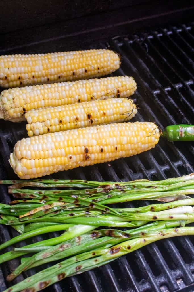 Grilled items on the grill.