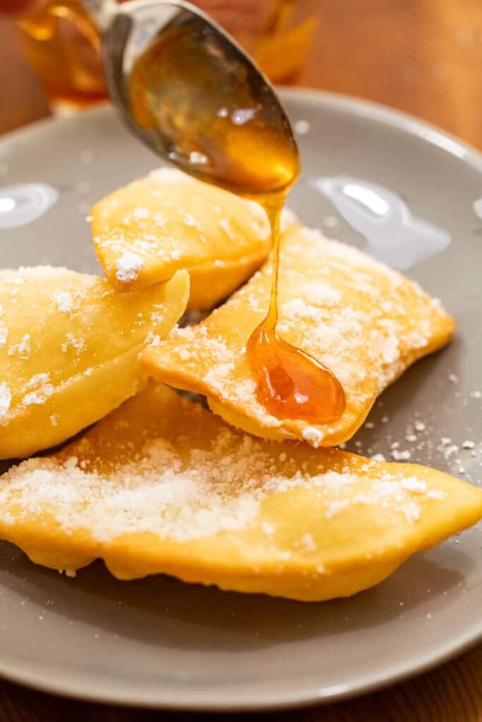 Fresh Sopapilla with Hot Honey