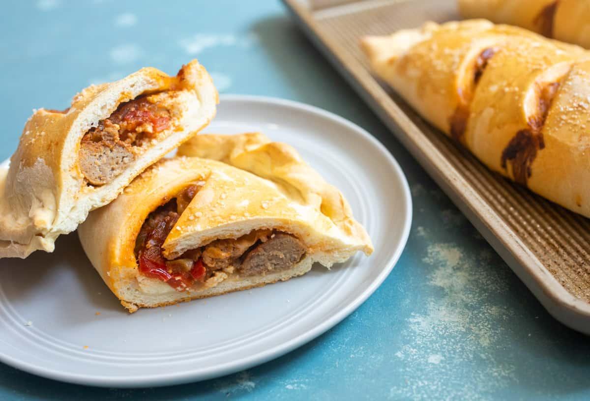 Turkey Sausage Calzones