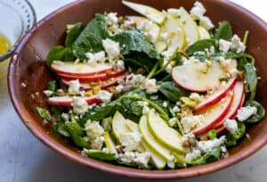 Ultimate Fall Salad with Kale and Fruit