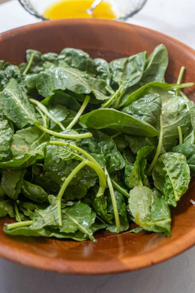 Greens for fall salad.