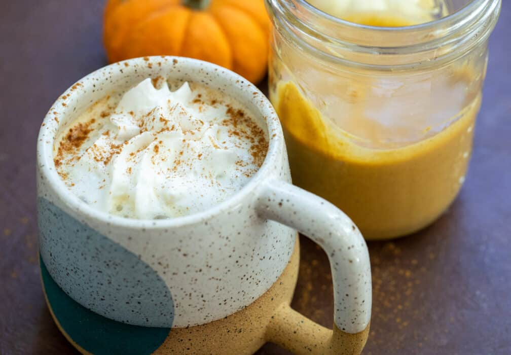 Homemade Pumpkin Spice Latte concentrate